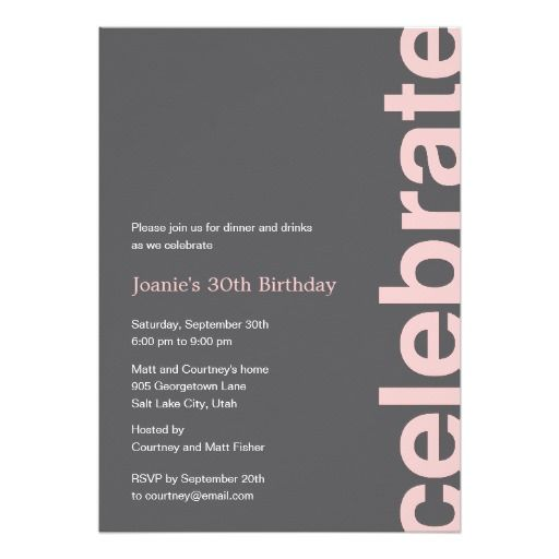112 best Birthday Adult Invitations images – Modern Party Invitations
