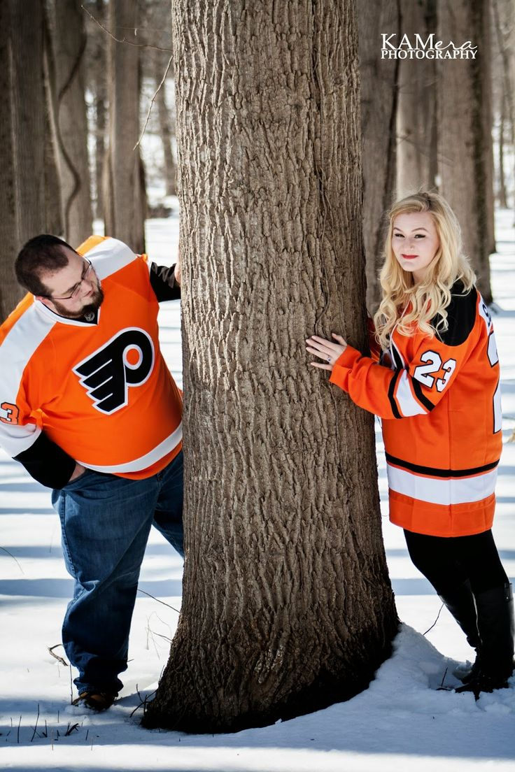 Flyers - Hockey  Engagement photos Ideas - A Beauty and The Business Blog