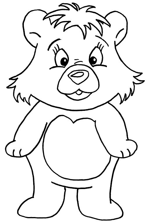 14 best Bear Coloring Pages images on Pinterest Bear coloring