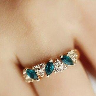 2015 레트로 빈티지 반지 달콤한 모조 다이아몬드 반지 도매/소매 XY-R136 17 미리메터 크기