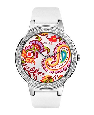 #chronowatchco Guess Watch, Women's Paisley Dial Leather Strap. Love the face!