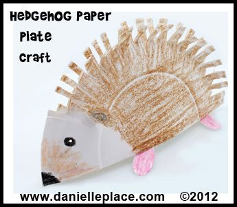 Hedgehog out of a paper plate. Good for a Craft activity (could be related to animal/wildlife as well)