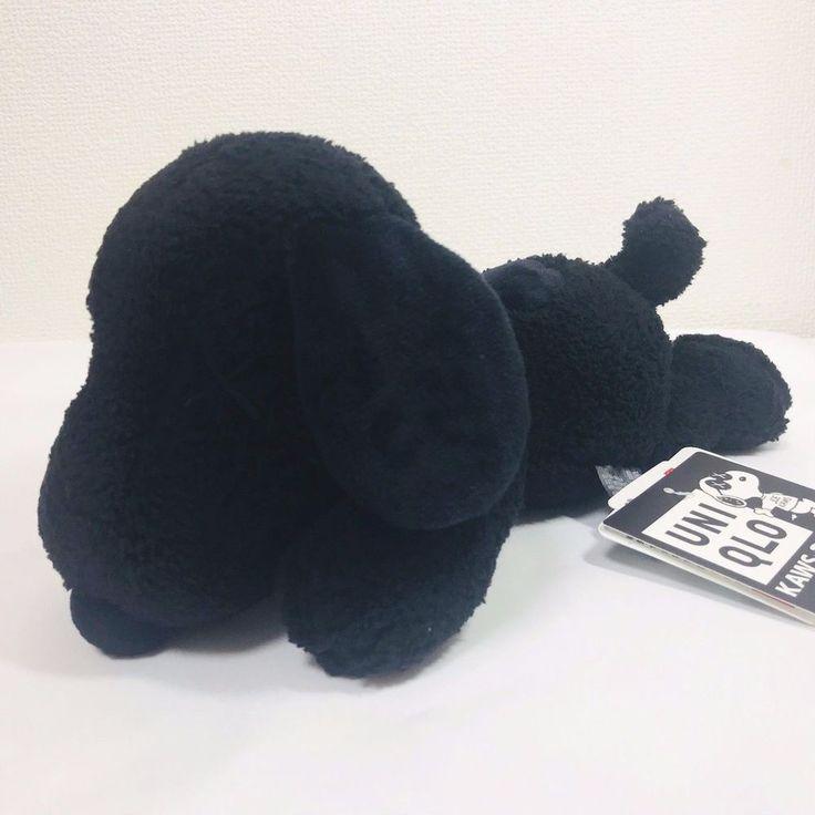 KAWS x Peanuts × Uniqlo SNOOPY Plush Toy Small size Black F/S IN HAND NEW #KawsPeanutsUniqlo