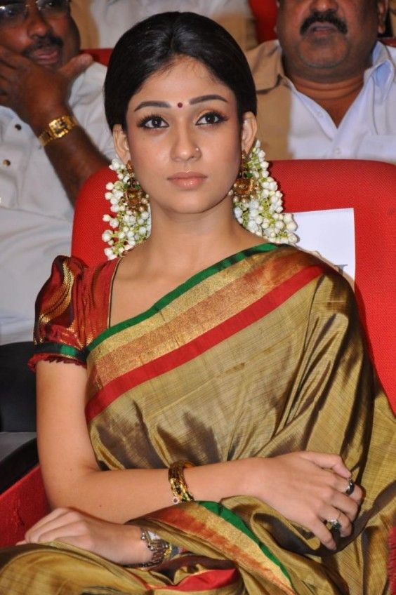Indian Sarees - South Indian Actress Nayanatara in Traditional Silk Saree  For more pics please visit www.minmit.com