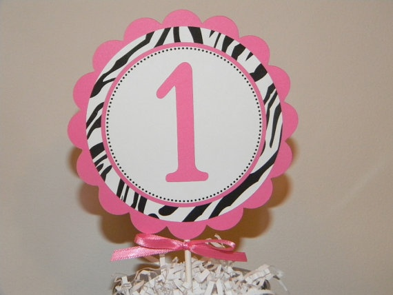 Hot Pink and Zebra Centerpiece Decoration by inspirationsdesign, $4.00