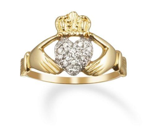 14k Gold Diamond Friendship Clatter Ring