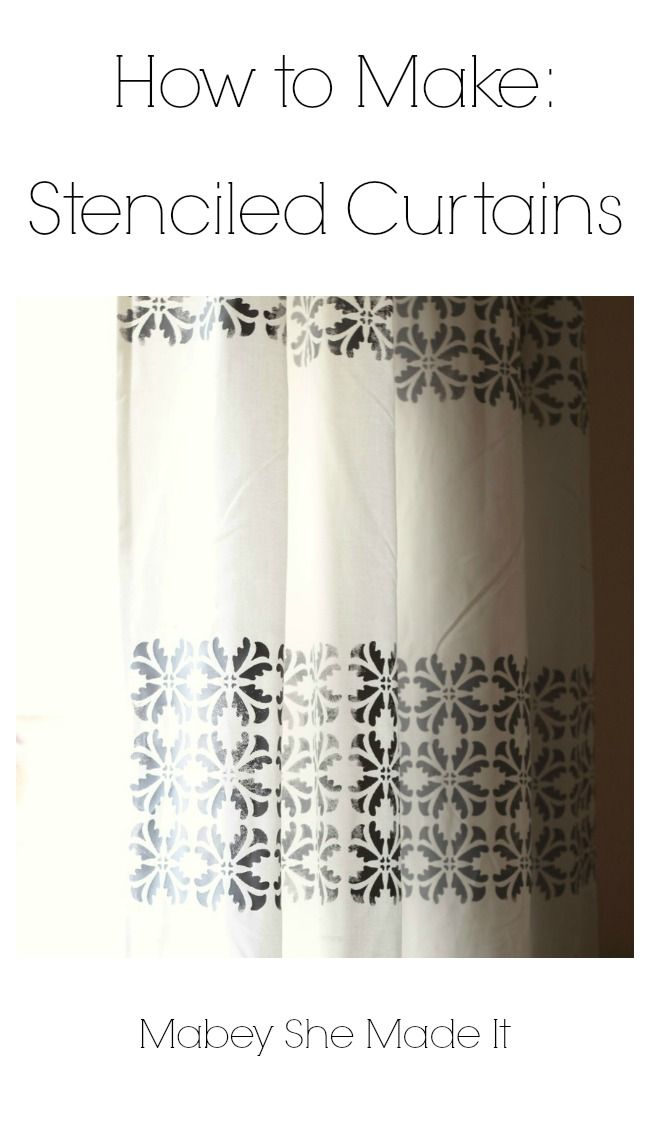 Must make! Easy to follow tutorial for DIY Stenciled Curtains