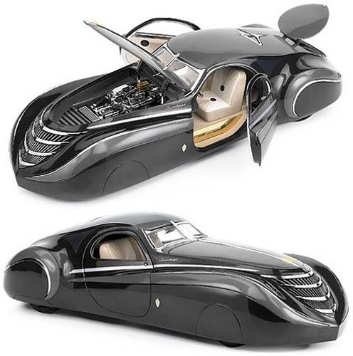 1939 Duesenburg Coupe Simone Midnight Ghost--way before it's time. Genius.