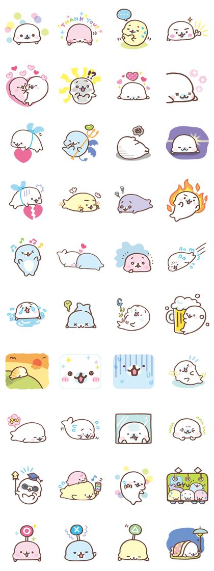 The second set of stickers featuring Mamegoma. Softness now at 120%. Enough to bring a smile to anyone's face!