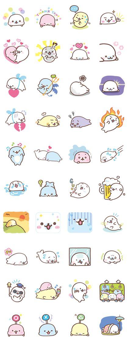Mamegoma está de vuelta con este nuevo set de stickers. 120% de dulzura que alegrará el día de todos tus amigos.