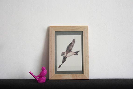 Carte postale de l'Hirondelle de rivage by Aurore L'hiver Naît