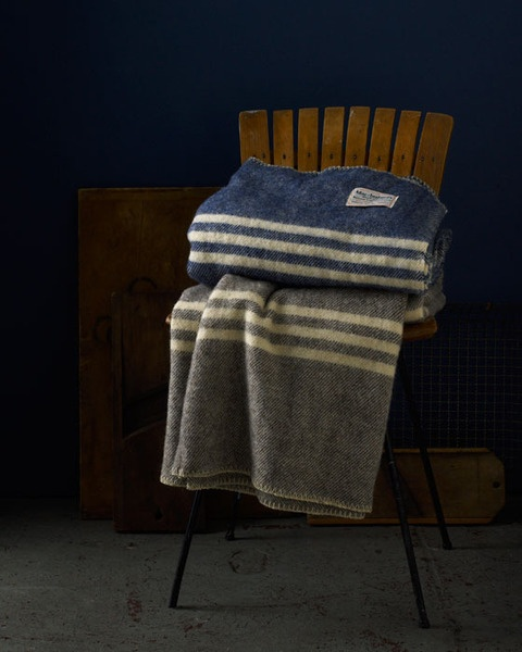 Raw wool blankets, MacAusland's Woolen Mills from PEI. One for John, one for Sherlock. For those winter evenings when they sit in their easy chairs, in front of the fire, mocking Mycroft and waiting for Mrs Hudson to fix mugs of cocoa.