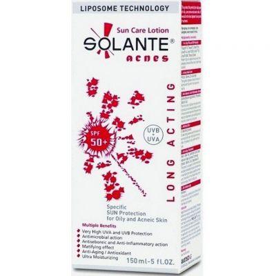 Güneşe karşı sahip olduğu güçlü ve geniş filtrelerle cilde koruyan,güneşin neden olduğu yaşlılık belirtilerine karşı anti age özellik gösteren #Solante #Acnes SPF 50+ #Akneye #Karşı #Etkili #Güneş #Koruyucu #Losyon 150 ml ürününü kullanabilirsiniz.Diğer ürünler için www.portakalrengi.com adresini ziyaret edebilir detaylı bilgi edinebilirsiniz.