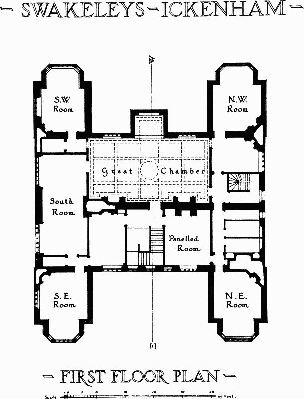 Great Swakeleys Ickenham Plate First floor plan British History Online