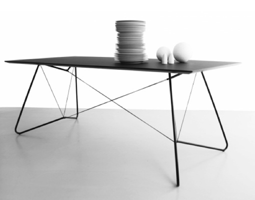 'On a String' table, OK Design.  www.nyttrom.no