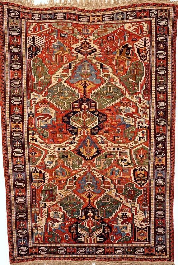 Caucasian soumak, 314.5 cm x 217.5 cm, early 19th c, Hallwyl Museum