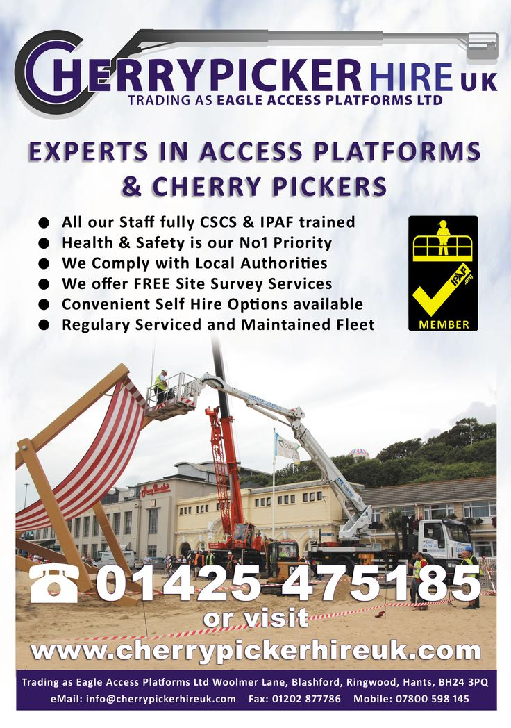 Cherry Picker Hire Leaflet Front