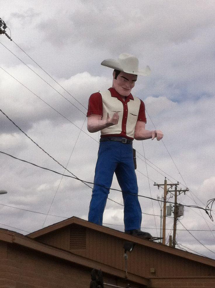 Big Cowboy In Gallup Nm Muffler Men Road Trippin