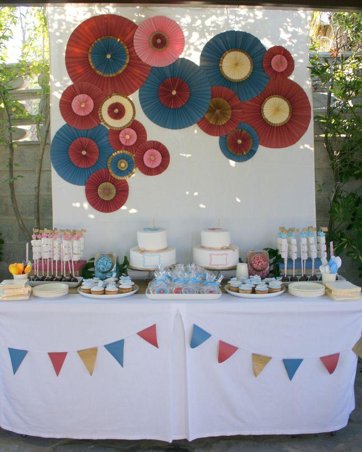 candy bar de Cosas con Encanto para fiesta bautizo-cumpleaños de gemelos