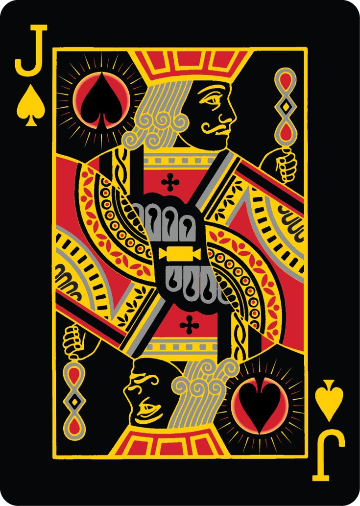 Bicycle Total Eclipse Playing Cards by AllFourAces. Printed by USPC. Jack of Spades