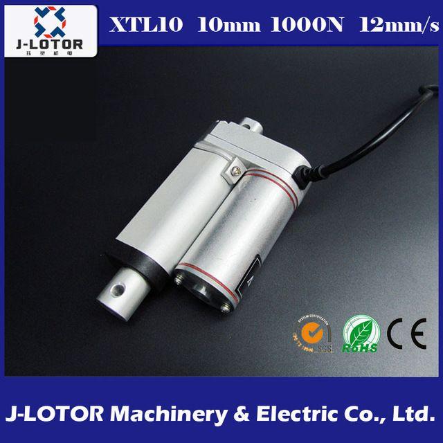 10 MM Actuador Lineal 12 V 12 mm/s 100 KG Eléctrico de Accionamiento Del Motor Impulsor para Ventana Dc putter eléctrico o Control de elevación telescópica