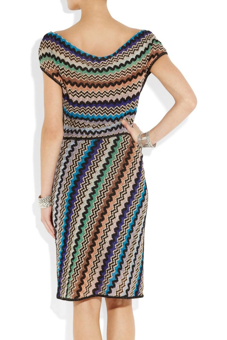 Giovanna zigzag crochet-knit dress  $1,360 Missoni (Back) Net-a-Porter