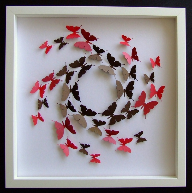 I love the intricate paper artwork from family business Almond Tree Designs. This framed butterfly a