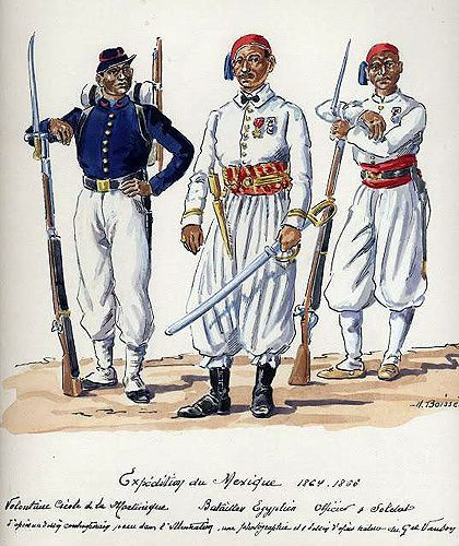 The Mexican Adventure: Uniforms: Zouaves, Turcos, and Egyptian Troops