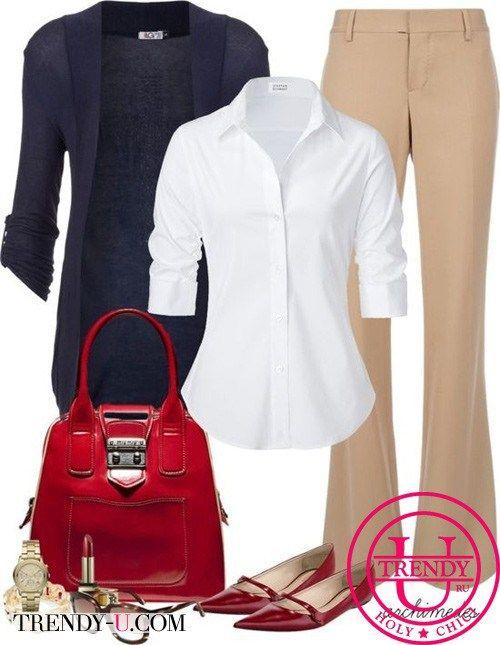 Красные туфли и деловой стиль