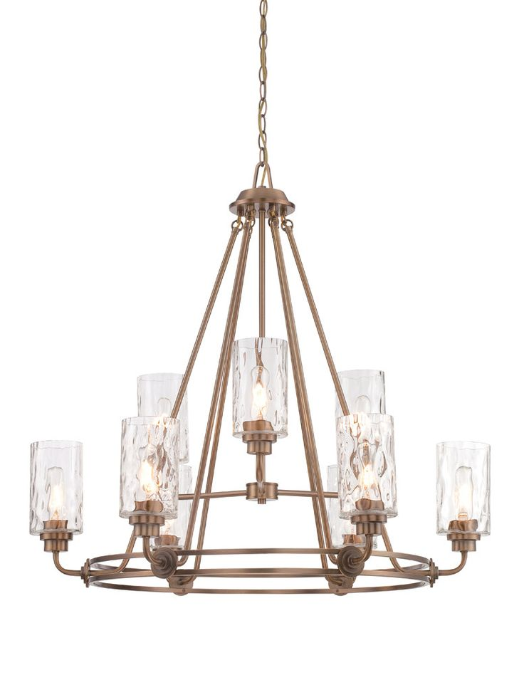 Designers fountain lights designers fountain chandelier fixture model gramercy park 9 light chandelier in old satin brass finish