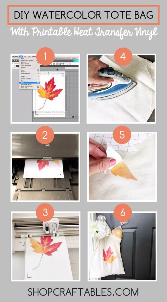 graphic relating to How to Use Printable Heat Transfer Vinyl Cricut named Do it yourself Watercolor Tote Bag with Printable Warmth Go Vinyl