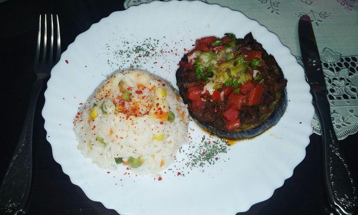 Sebzeli pilav & patlıcan musakka