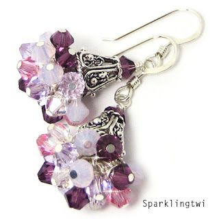 cluster earring tutorial - Google Search