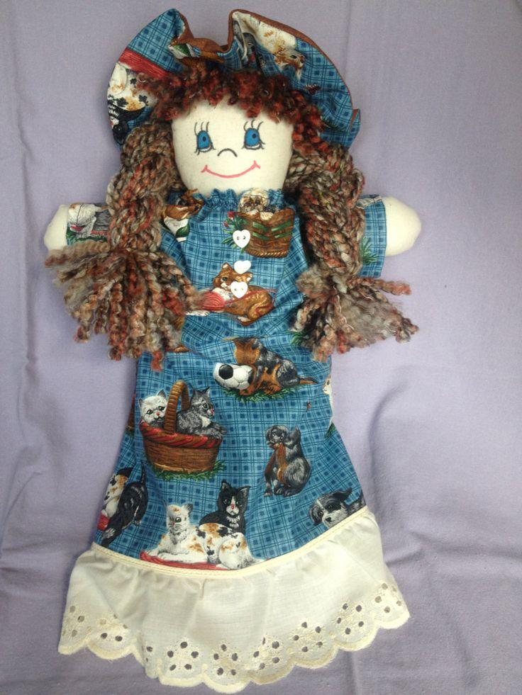 JenDoll #6 Handmade Rag, Cloth Doll by JenDolls on Etsy