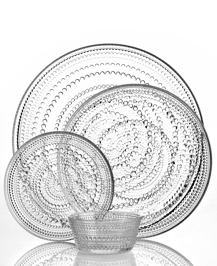 Iittala Dinnerware, Kastehelmi Clear Collection - Casual Dinnerware - Dining & Entertaining - Macy's