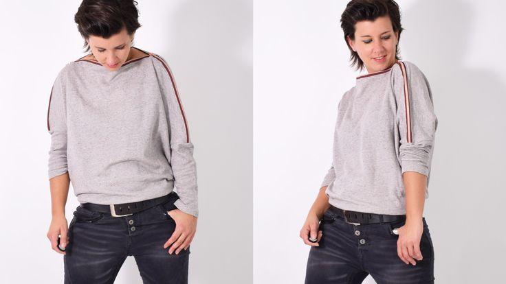 AUFREISSER.pulli • Pullover • Reißverschluss • freebie • freebook • free • Shirt • Zipper • Damen • Women • sewing pattern • Schnittmuster • Nähen • leni pepunkt