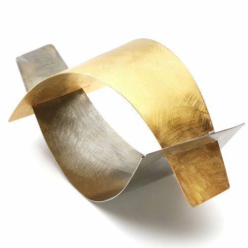 Bracelet | Joanna and Tadeusz Jaworscy.  Silver and gold