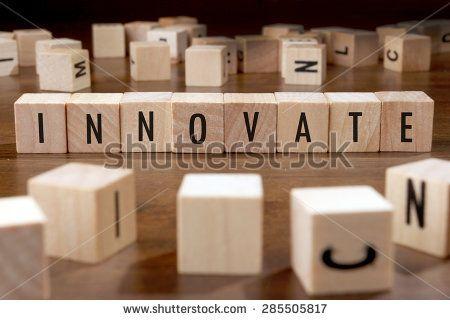innovate word written on wood block - stock photo