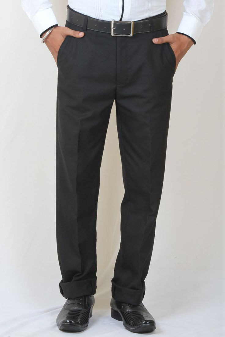 http://tinyurl.com/zlbbt7c Buy Online DMARK Black Polyster Cotton Trousers only on GetAbhi.com