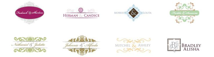 Wedding Monogram Designs-Free and however you want! Must remember this site!!!!