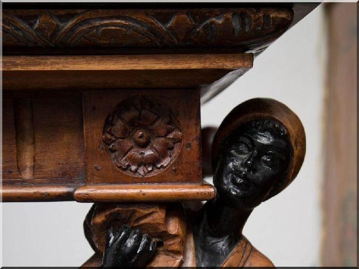 Reneszánsz asztal, asztalláb, antik bútor