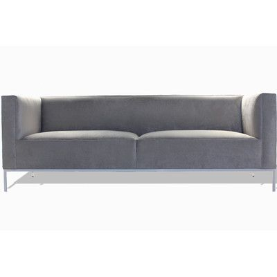 "Bobby Berk Home Lacy Sofa Upholstery: Klein Wheatgrass, Frame Finish: Brushed Steel, Size: 96"" W"