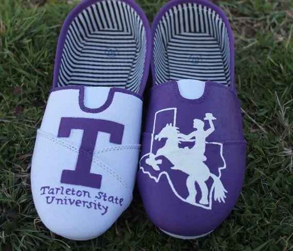 Tarleton State University Hand Painted Shoes by TKLCustomCreations