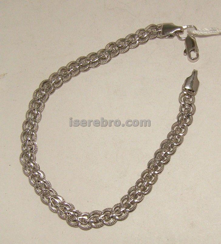 Серебряный браслет - 282 грн. размер 18,5 вес 4,70 браслет