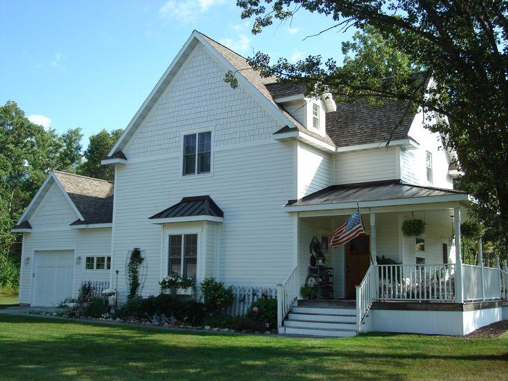 charming white farm house