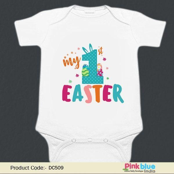 6de68d2c My First Easter Baby Onesie - Newborn 1st Easter Rompers - Custom Infant  Easter Bodysuit - Personalized Easter Gift for Boys & Girls