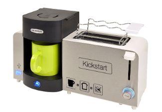 1-Tassen-Kaffeeautomat, 2-Scheiben Toaster mit separaten Brötchenaufsatz, USB-Ladeport zum laden aller gängigen Mobiltelefone