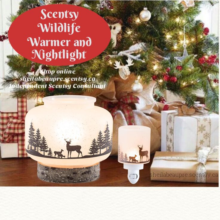 SCENTSY WARMER  LIFETIME WARRANTY  Weave some woodland magic into any space with this rustic, softly lit warmer, featuring a tranquil scene cast in perfect silhouette.