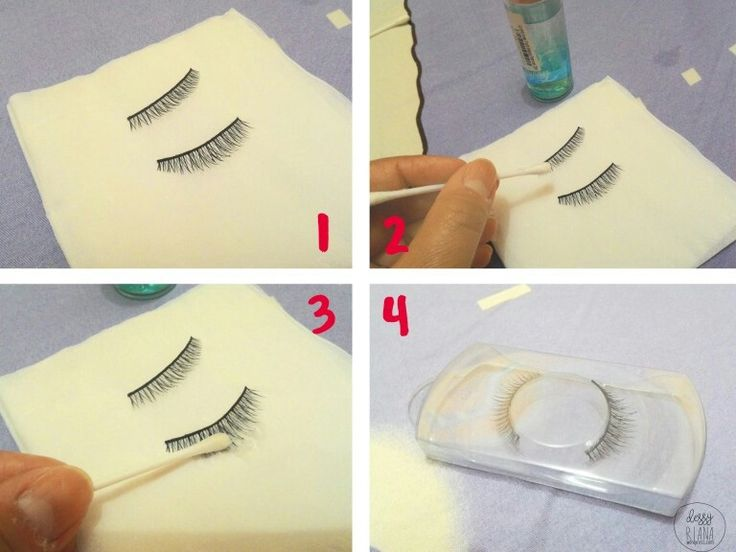 How to clean your fake eye lashes