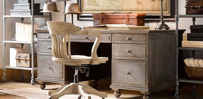 zinc desk restoration hardware place to read and write
